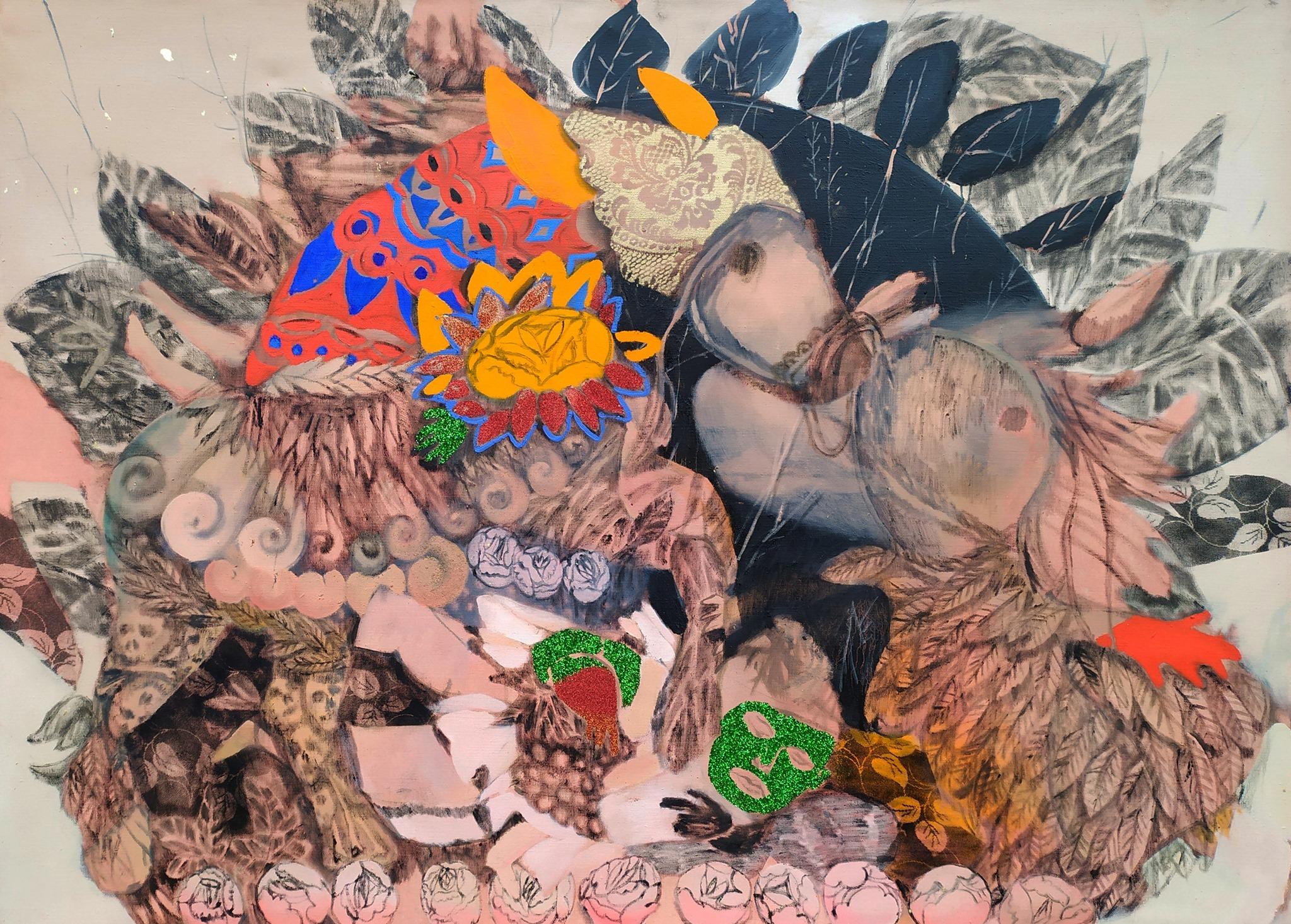 Vernisáž výstavy - Denisa Krausová - Na hranice muškátu